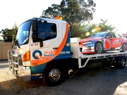 voda phone on quality towing truck with sun perth