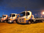 night time quality towing trucks
