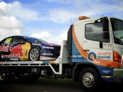 redbull car on truck in perth quality towing